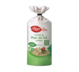 Tortitas de Maíz Sin Sal Añadida Bio