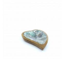 Concha Decorativa de Nácar y Teca Corazón