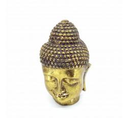 Cabeza Budha Resina Dorado