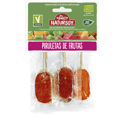 Piruletas 5 sabores frutas Bio